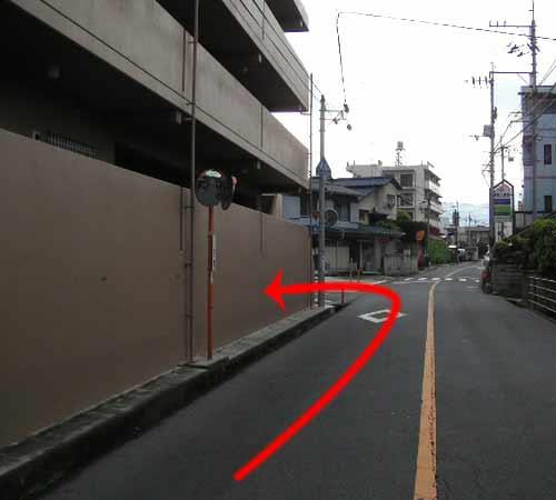 税理士事務所への道順の写真